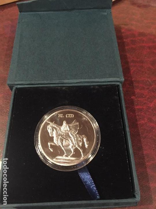MAGNIFICA MEDALLA PLATA EL CID CAMPEADOR BURGOS (Numismática - Medallería - Temática)