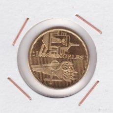 Medallas temáticas: MEDALLA JUEGOS OLÍMPICOS LOS ANGELES 84 ( BAÑADA EN ORO ). Lote 156662858