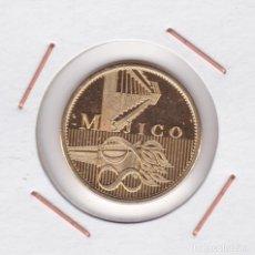Medallas temáticas: MEDALLA JUEGOS OLÍMPICOS MEXICO 68 ( BAÑADA EN ORO ). Lote 156663394