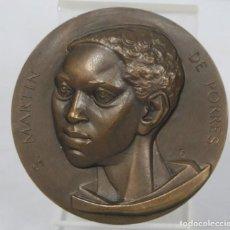 Medallas temáticas: MEDALLA DE BRONCE. S. MARTIN DE PORRES. OMNIBUS OMNIA FACTUS SUM. SECRETARIADO DE MARTIN DE PORRES . Lote 157172830