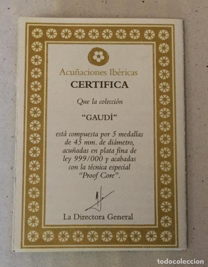 Medallas temáticas: COLECCIÓN GAUDí - 5 MEDALLAS DE PLATA 999/000 - Foto 4 - 157229526