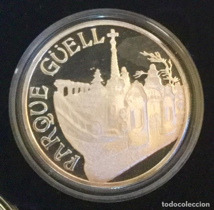 Medallas temáticas: COLECCIÓN GAUDí - 5 MEDALLAS DE PLATA 999/000 - Foto 8 - 157229526