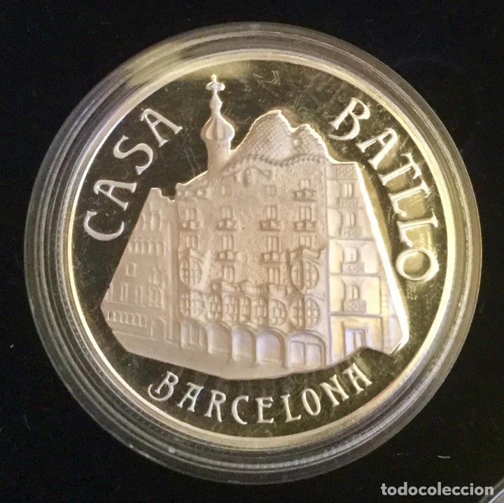 Medallas temáticas: COLECCIÓN GAUDí - 5 MEDALLAS DE PLATA 999/000 - Foto 9 - 157229526