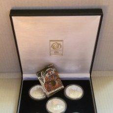 Medallas temáticas: COLECCIÓN GAUDÍ - 5 MEDALLAS DE PLATA 999/000. Lote 157229526