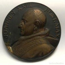 Medallas temáticas: NUMULITE FIGURA 0057 MEDALLA JOANNES XXIII PONT. MAX JE SUIS LE SERVITEUR DE TOUS DIÁMETRO 7 CM. Lote 157291582