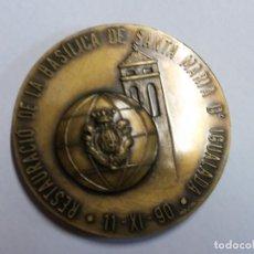 Medallas temáticas: RESTAURACIO DE LA BASILICA DE SANTA MARIA IGUALADA. 1990. SANT CRIST IGUALADA. Lote 158281826