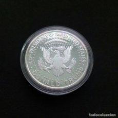 Medallas temáticas: PRECIOSA MONEDA EN PLATA DE COLECCION USA CONMEMORATIVA DONALD TRUMP. Lote 158323098