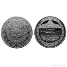 Medallas temáticas: PRECIOSA MONEDA DE PLATA DE COLECCION CON CALENDARIO AZTECA . Lote 158330310