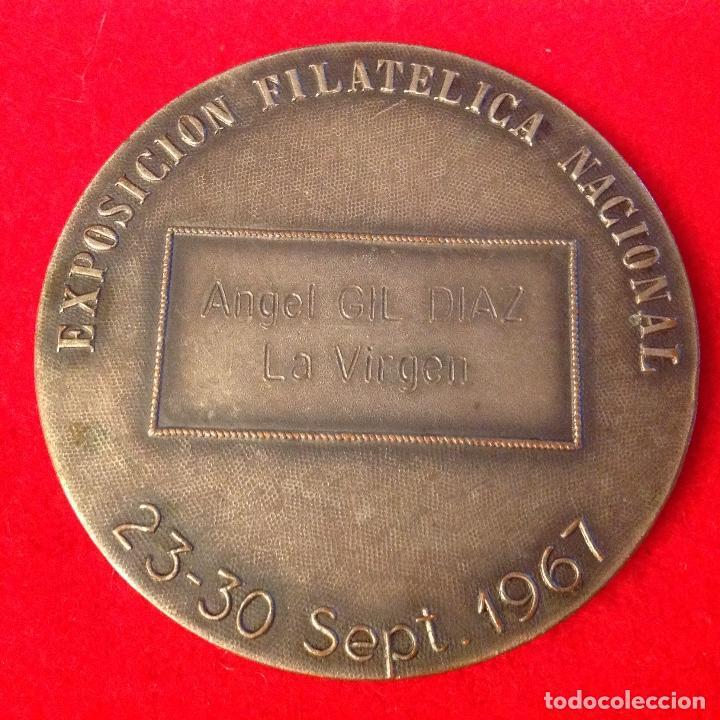 Medallas temáticas: Medalla medalla, Exposicion filatélica nacional, Barcino, Barcelona 1967, 6 cm. de diametro, - Foto 2 - 158679358