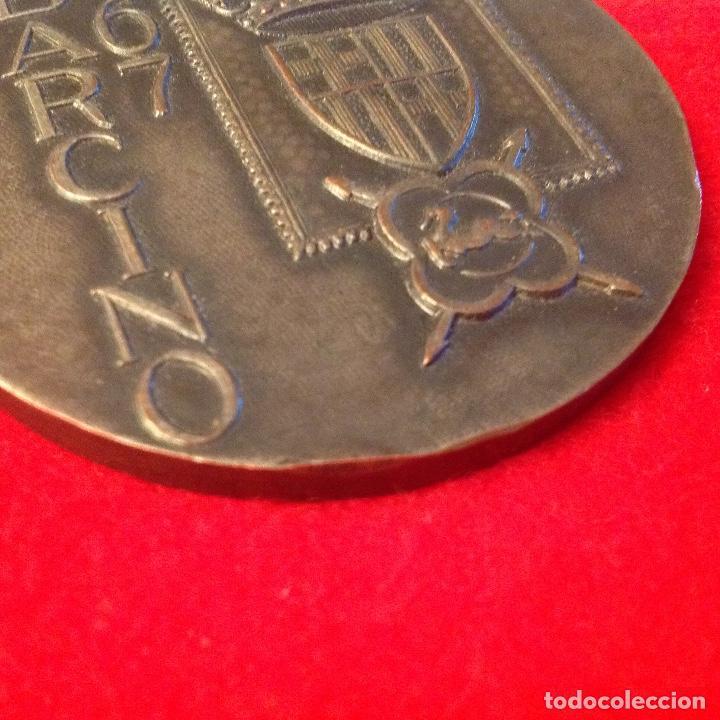 Medallas temáticas: Medalla medalla, Exposicion filatélica nacional, Barcino, Barcelona 1967, 6 cm. de diametro, - Foto 3 - 158679358