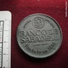 Medallas temáticas: BANCO DE SABADELL. MEDALLA. MÓDULO 5 PESETAS DE ALFONSO XII. 1881. Lote 158691766