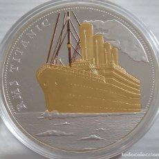 Medallas temáticas: MONEDA TAMAÑO XXL 70 MM CONMEMORATIVA A 100 AÑOS DEL HUNDIMIENTO DEL TITANIC EDICION MUY LIMITADA. Lote 158833554