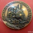 Medallas temáticas: MEDALLA HOMENAJE A LA LOCOMOTORA DE VAPOR 1972. BARCELONA. 87 GR. 5 CTMS. DIÁMETRO. Lote 159068994