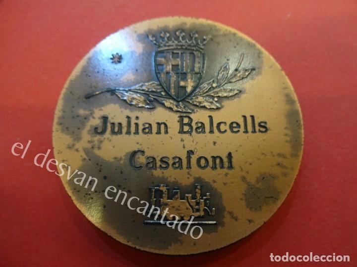 Medallas temáticas: Medalla HOMENAJE A LA LOCOMOTORA DE VAPOR 1972. Barcelona. 87 gr. 5 ctms. diámetro - Foto 2 - 159068994