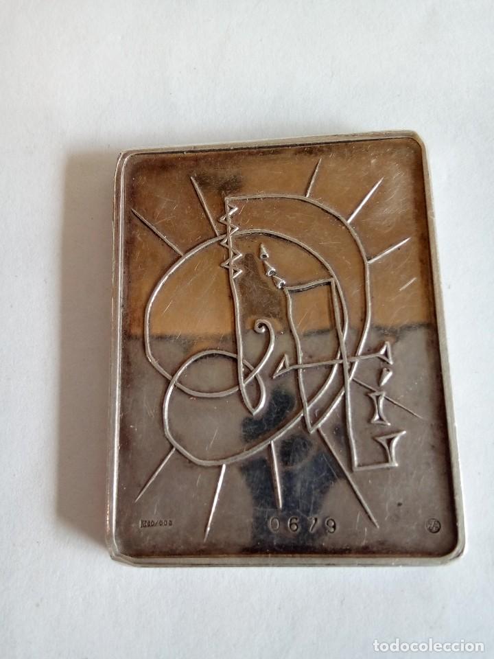 Medallas temáticas: PLACA EN PLATA DE LOS SIETE DÍAS DE LA CREACIÓN /DALI - Foto 2 - 171418450