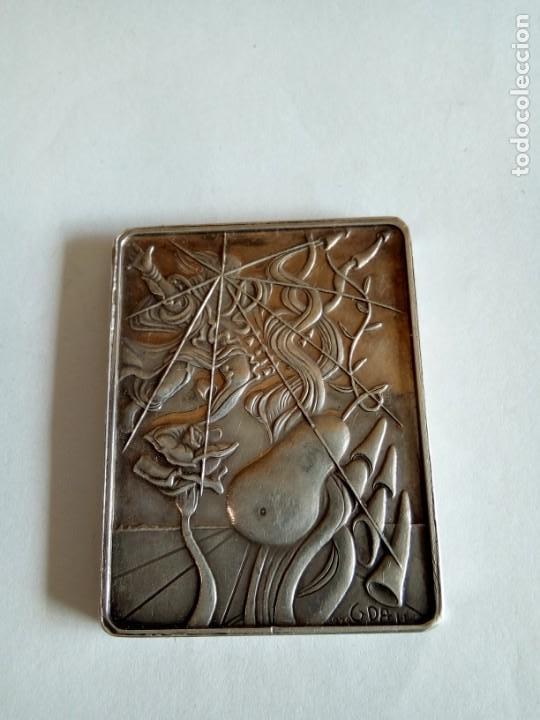 PLACA EN PLATA DE LOS SIETE DÍAS DE LA CREACIÓN /DALI (Numismática - Medallería - Temática)