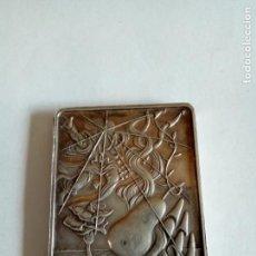 Medallas temáticas: PLACA EN PLATA DE LOS SIETE DÍAS DE LA CREACIÓN /DALI. Lote 171418450