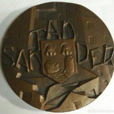 Medallas temáticas: MEDALLA - SANTANDER - FNMT 1985. SERIE CIUDADES. DIÁMETRO 80 MM. PESO 267 GR. Lote 159584122