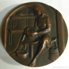 Medallas temáticas: MEDALLA - QUESERÍA - FNMT. SERIE OFICIOS. FIRMADA F.J. FERNANDO JESÚS. DIÁMETRO 71 MM. PESO 254 GR. Lote 159585254