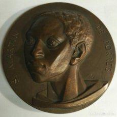 Medallas temáticas: MEDALLA -S MARTÍN DE PORRES. PALENCIA- FNMT. FIRMADA FJ. FERNANDO JESÚS. DIÁMETRO 75 MM. PESO 235 GR. Lote 159585822