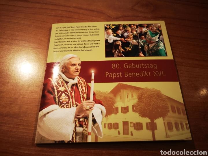 Medallas temáticas: Cartera Alemania 80 Aniversario del Papa Benedicto XVI medalla y sellos - Foto 2 - 159812281