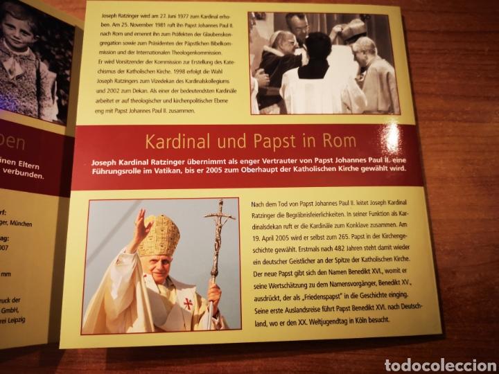 Medallas temáticas: Cartera Alemania 80 Aniversario del Papa Benedicto XVI medalla y sellos - Foto 3 - 159812281