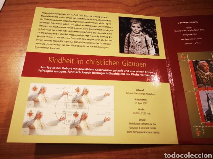 Medallas temáticas: Cartera Alemania 80 Aniversario del Papa Benedicto XVI medalla y sellos - Foto 4 - 159812281