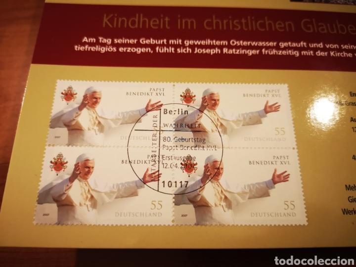 Medallas temáticas: Cartera Alemania 80 Aniversario del Papa Benedicto XVI medalla y sellos - Foto 5 - 159812281