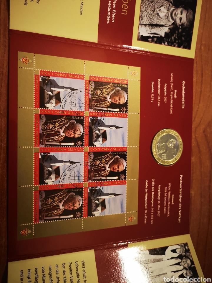 Medallas temáticas: Cartera Alemania 80 Aniversario del Papa Benedicto XVI medalla y sellos - Foto 6 - 159812281