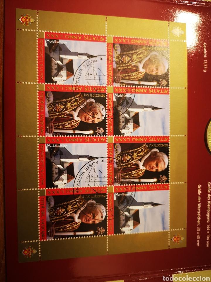 Medallas temáticas: Cartera Alemania 80 Aniversario del Papa Benedicto XVI medalla y sellos - Foto 8 - 159812281
