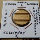 Medallas temáticas: FICHA PARA TELEFONOS MODELO 1. Lote 159887418