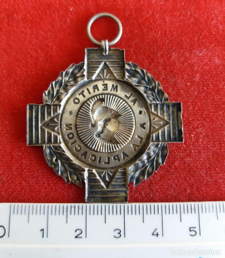 Medallas temáticas: ESPAÑA.MEDALLA A LA APLICACION. PLATA - Foto 2 - 160335366