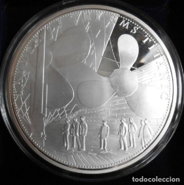 GRAN MONEDA DE 70 MM CONMEMORATIVA A LOS 100 AÑOS DEL HUNDIMIENTO DEL TITANIC EDICION MUY LIMITADA (Numismática - Medallería - Temática)