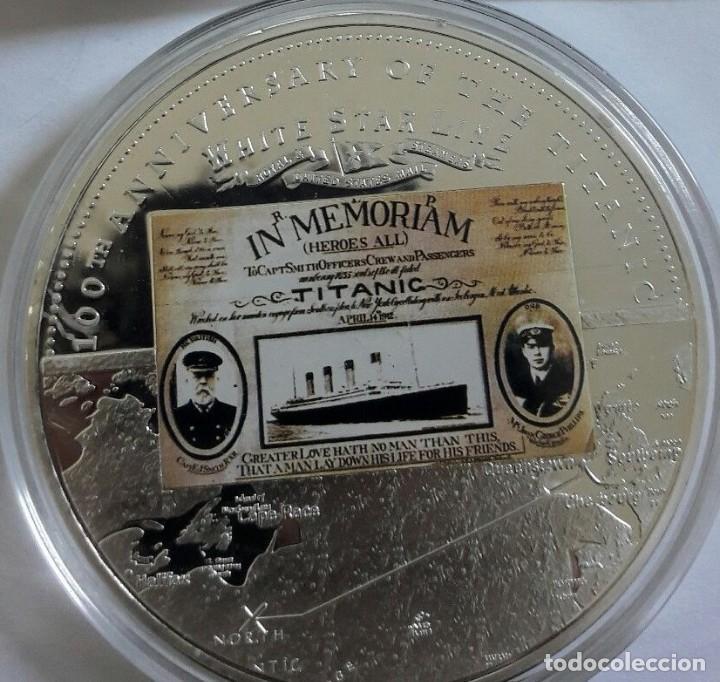 Medallas temáticas: GRAN MONEDA DE 70 MM CONMEMORATIVA A LOS 100 AÑOS DEL HUNDIMIENTO DEL TITANIC EDICION MUY LIMITADA - Foto 2 - 224533167