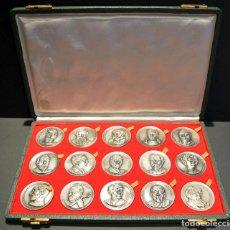 Medallas temáticas: COLECCION 15 MEDALLAS DE PERSONAJES ILUSTRES DE CATALUÑA. Lote 160989642