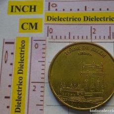 Medallas temáticas: ANTIGUA FICHA MONEDA. TORRE DE BELEM DE LISBOA. 2012. PORTUGUESE HERITAGE COLLECTORS COIN. Lote 161172230