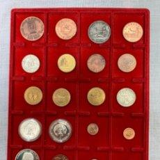 Medallas temáticas: LOTE 20 MEDALLAS TEMÁTICA FILATÉLICO-NUMISMÁTICO. Lote 161212778
