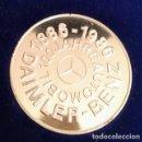 Medallas temáticas: BONITA MONEDA DE PLATA A LOS 100 AÑOS DEL AUTOMOBIL DE DAIMLER BENZ AÑO 1886 A 1986. Lote 161221866