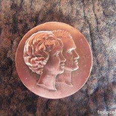Medallas temáticas: MEDALLA SS.AA.RR JUAN CARLOS DE BORBON PRINCIPE DE ASTURIAS PRINCESA SOFIA DE GRECIA 14 MAYO 1962. Lote 161694406