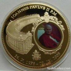 Medallas temáticas: BONITA MONEDA XXL 70 MM CONMEMORATIVA AL NOMBRAMIENTO DEL PAPA JUAN PABLO II EN CIUDAD DEL VATICANO. Lote 161703482