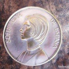 Medallas temáticas: MEDALLA SOFIA REINA DE ESPAÑA DE BRONCE PLATEADO . Lote 161804074