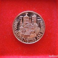 Medallas temáticas: FICHA - MEDALLA CONMEMORATIVA 2000 AÑOS FUNDACIÓN NEUSS AM RHEIN, ALEMANIA, 1984, CIUDAD. Lote 162398502
