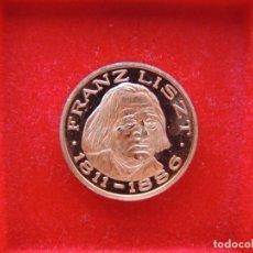 Medallas temáticas: FICHA - MEDALLA CONMEMORATIVA 100 AÑOS MUERTE MÚSICO FRANZ LISZT, ALEMANIA, 1986, NOTAS MUSICALES. Lote 162399766