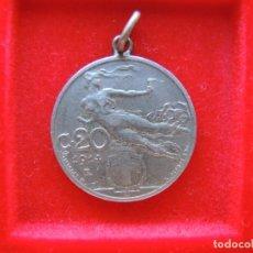 Medallas temáticas: MEDALLA, MONEDA DE 20 CENTESIMI ITALIANOS DE 1914. Lote 162502662