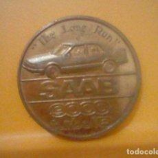 Medallas temáticas: SAAB 9000 PORSCHE 959 MEDALLA MONEDA TURBO 16 PROMOCIONAL TONO COBRE . Lote 163040378