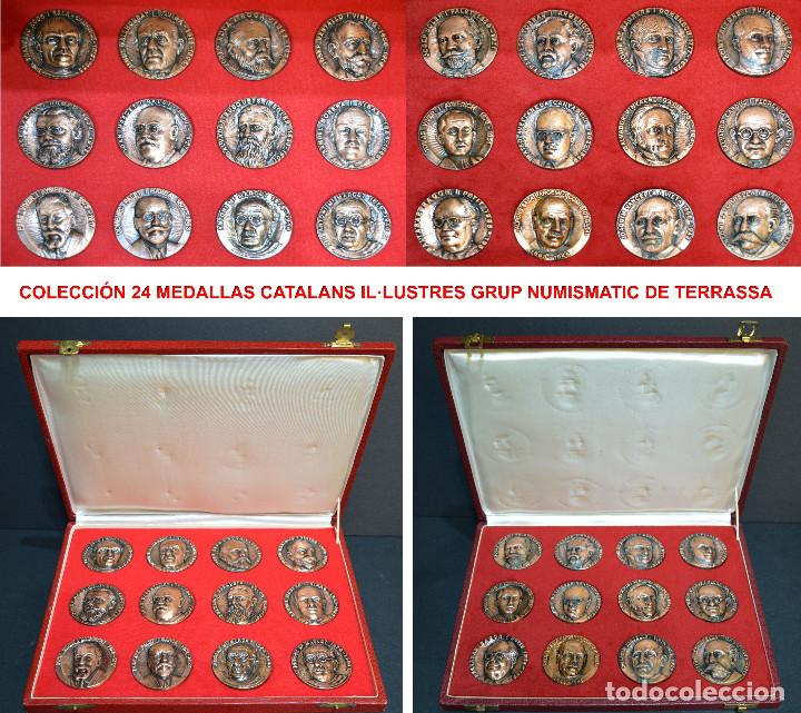 LOTE DE 24 MEDALLAS Y DOS MONETARIOS PERSONAJES ILUSTRES DE CATALUÑA. (Numismática - Medallería - Temática)