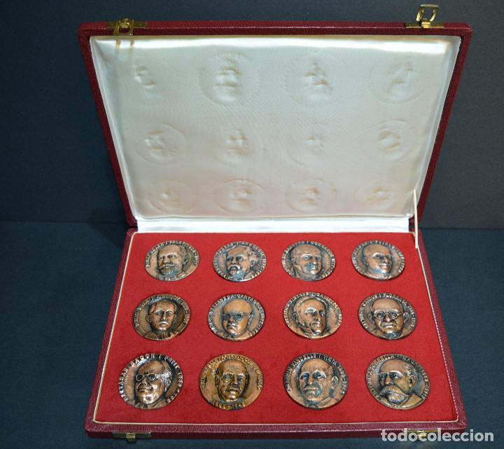 Medallas temáticas: LOTE DE 24 MEDALLAS Y DOS MONETARIOS PERSONAJES ILUSTRES DE CATALUÑA. - Foto 3 - 163489210
