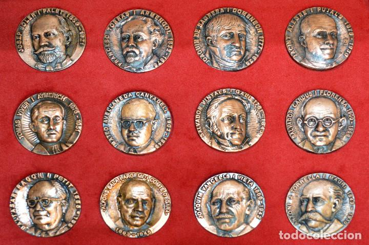Medallas temáticas: LOTE DE 24 MEDALLAS Y DOS MONETARIOS PERSONAJES ILUSTRES DE CATALUÑA. - Foto 7 - 163489210