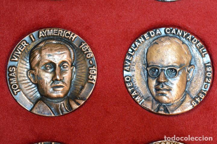 Medallas temáticas: LOTE DE 24 MEDALLAS Y DOS MONETARIOS PERSONAJES ILUSTRES DE CATALUÑA. - Foto 11 - 163489210