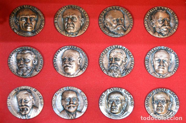 Medallas temáticas: LOTE DE 24 MEDALLAS Y DOS MONETARIOS PERSONAJES ILUSTRES DE CATALUÑA. - Foto 17 - 163489210